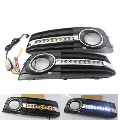 Glossy Fog Light Cover Standard Style Grille Grill For A4 B8 2009 2010 2011