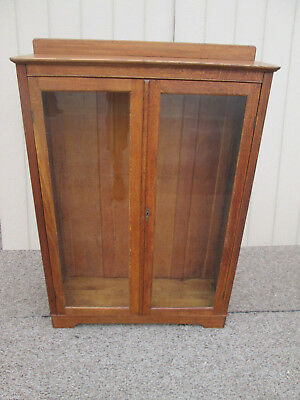 59055 Antique Oak Bookcase Curio Cabinet