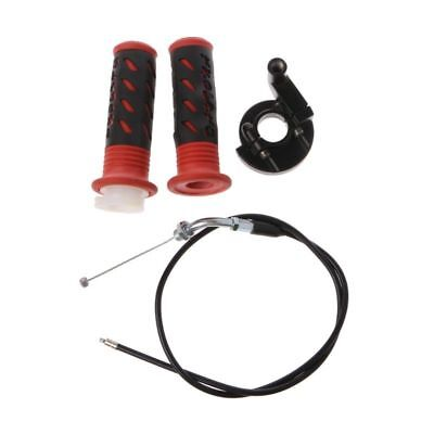 /Twist Handlebar Grips with Throttle Cable 110cc to 250cc Quad ATV Pit Dirt Bike Trail 22/mm 7//8in Ils/