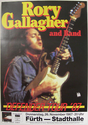 Rory Gallagher Concert Tour Poster 1987 Defender
