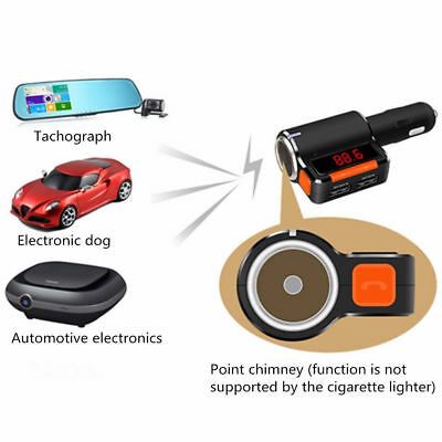 ABS Bluetooth Car Charger Bluetooth Wireless FM Transmitter Version 2.1 BC09