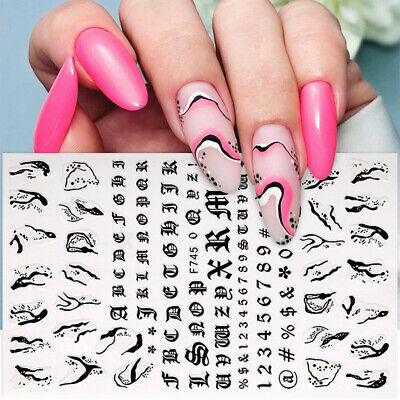 50Pcs Nail Art Water Transfer Decals 3D Flower Stickers Tips  Decoration