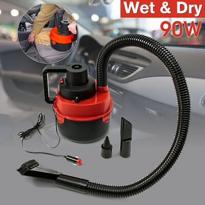12V Car Interior Wet Dry Vacuum Cleaner Inflator Portable Turbo Hand Held RED