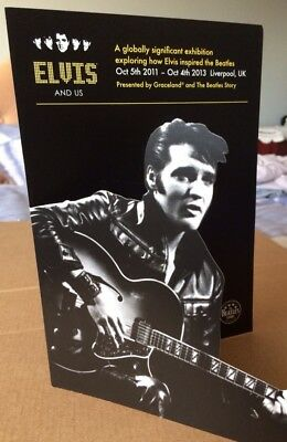 ELVIS PRESLEY / BEATLES exhibition promo Flyer / brochure Liverpool 2011. EPE