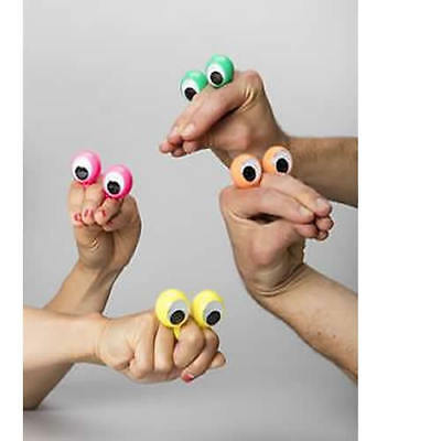 5pcs Finger Spies Googly Eyes Ring Kids Party Gift Bags Story Telling Puppet