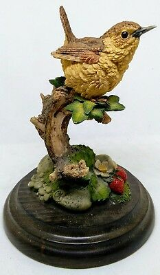 Beautiful Country Artists ceramic model of a wren on a branch