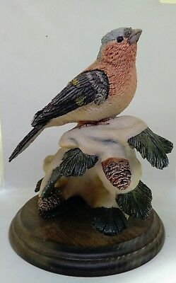 Country Artist ceramic model of a chaffinch on a pine tree