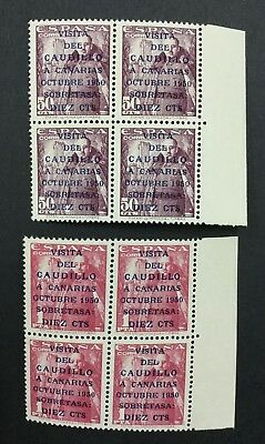 Momen: Spain #b137-138 Blocks 1950 Mint Og Nh $800+++ Lot #1768