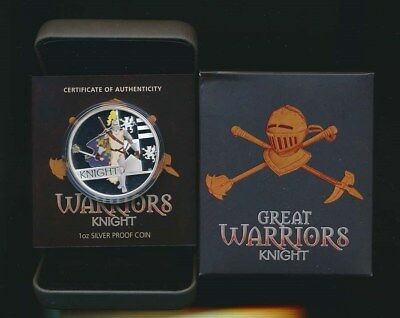 Tuvalu: 2010 $1 Knight 1oz Silver Proof, Great Warrior Series
