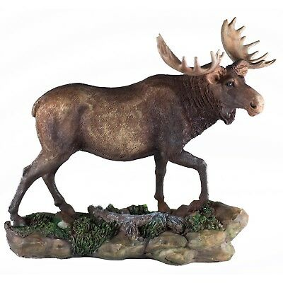 Moose Figurine 7 Inch High Resin New In Box!