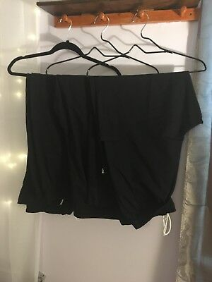 Black chefs pants ,  five star chef's apparel ,unisex ,size extra large