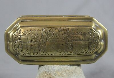 18th Century Dutch Brass Tobacco Box c1790