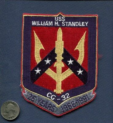 CG 32 USS STANDLEY 25th Anniversary 1966 1991 US NAVY Ship Squadron Cruise Patch