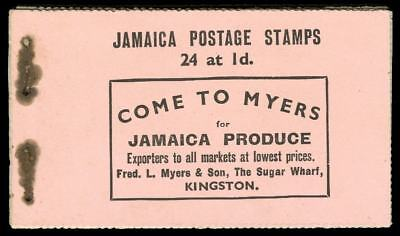 Jamaica 1935 KGV Silver Jubilee complete exploded booklet. RARE. SG SB8.