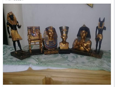 Collection of Pharaonic statues of Egyptian civilization