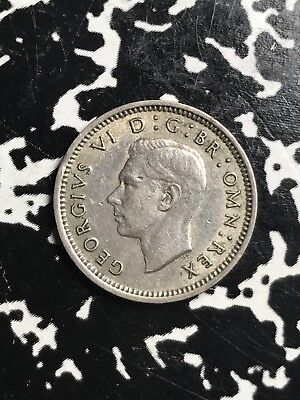 1944 Great Britain 3 Pence Km#848 Lot#X7519 Silver! Key Date!
