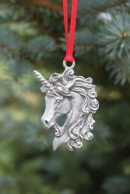 Hastings Pewter Lead Free Pewter Unicorn Ornament fantasy gift Mythical USA  NEW