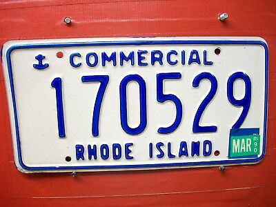 Rhode Island   = 1990 = Commercial = License Plate = 635