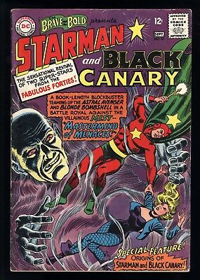Brave And The Bold (1955) #61 1st Print Origins Of Starman & Black Canary VG