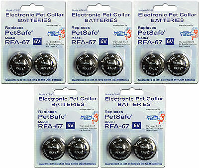 10 Pack PetSafe ® Compatible RFA-67 & RFA-67D-11 Replacement Battery 5x2 Packs