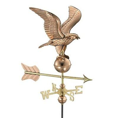 Good Directions Eagle Garden Weathervane Polished Copper w/ Garden Pole 8815PG