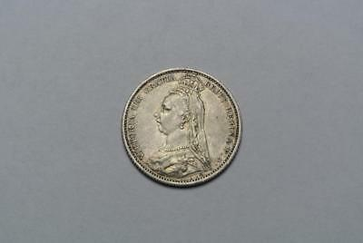 Great Britain 1887 Sixpence, A. XF Condition  - C5782