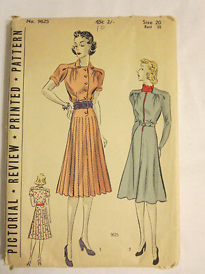 Vintage 1931 Pictorial Review Printed sewing pattern dress sewing un-cut
