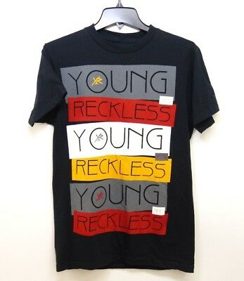 099cb7a3 New PacSun Mens Young & Reckless Black Short Sleeve Graphic Tee Sz S Shirt