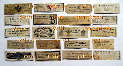 Violin Labels Old copies for the decoration of music shops(set 1257)