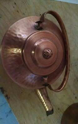 Nice Hammered Copper tea kettle Aladdin Kind of Look Home Decor USA #5