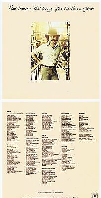 "Paul Simon ""Still crazy after all these years"" 1975! 10 Songs + 2 Boni! Neue CD!"