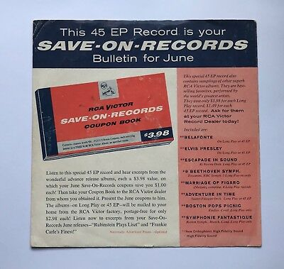 Elvis Presley-Tough To Find Save On Records Ep From 1956