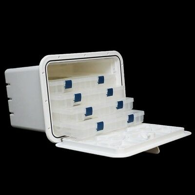 Innovative Product Solutions 530-205 13 X 17 Polar White Boat Tackle Box