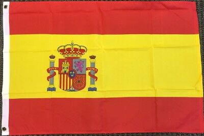 2x3 Spain Flag Spanish Banner Country Pennant Bandera Outdoor 24x36 inches