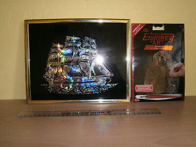 Collectables, Copper Foil Art Of A Ship And A Prince Charles Dog