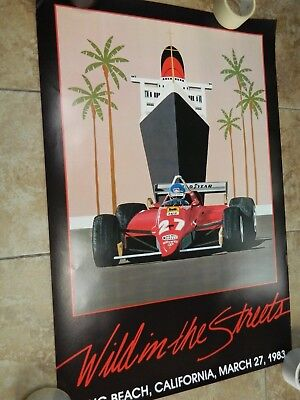 Automomobilia/randy Owens/long Beach/wild In The Streets Poster/grand Prix