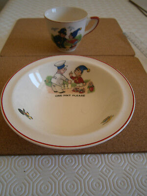 Collectables A Noddy Cup And A Noddy Child Bowl. In Nice Condition