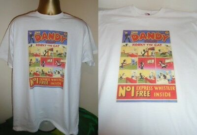 THE DANDY- 1st EDITION December 4th 1937 COMIC COVER T SHIRT - WHITE-  LARGE