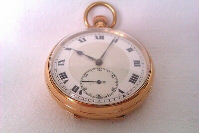 Rare 9ct Rose Gold Dennison Special Gentleman 15 Jewel Pocket Watch A.L.D 1931