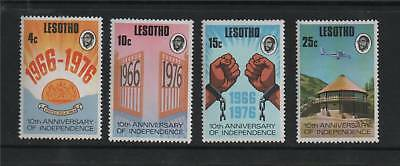 Lesotho 1976 Anniv Of Independence SG 314/7 MNH