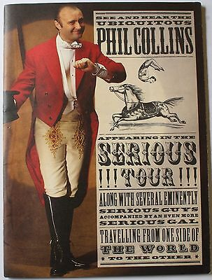 1990 Phil Collins Serious Tour 13 x 9 3/4 Program Concert EX