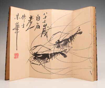 Rare Hand-Painted Shrimp Painting  Qi Baishi Collection Chinese Art Appreciation