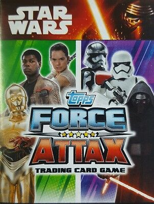 Star Wars FORCE ATTAX  Trading Card Set  FORCE AWAKENS  1 - 160 topps  2015