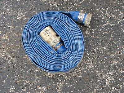 "Discharge hose 45'  2"" id  used female cam lock & threaded brass fittings"