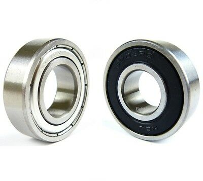 6000 Series 2RS ZZ Sealed Shielded Ball Bearings in Rubber/Metal, Various Sizes