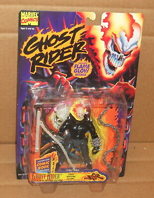 1996 Toy Biz Ghost Rider Chain Whipping Action Figure  Moc Marvel Comics