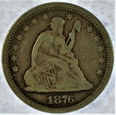 1876 Collectible Silver Seated Liberty Quarter (b33.112)