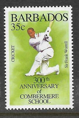 BARBADOS 1995 350th Anniv COMBERMERE SCHOOL SIR FRANK WORRELL CRICKET 1v MNH