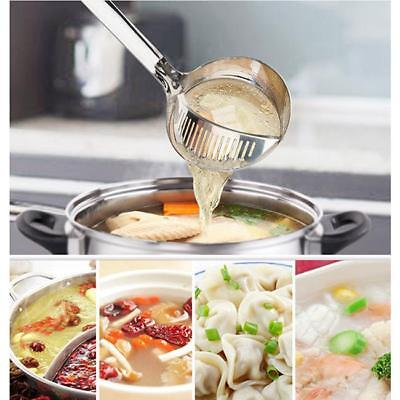 2 In 1 Stainless Steel Food Kitchen Tool Oil-Frying Filter Spoon Removable LG