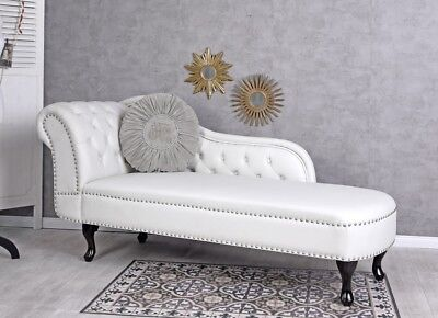 Chesterfield Sofa Ottoman White Daybett Relax Sofa Sofabank Seating
